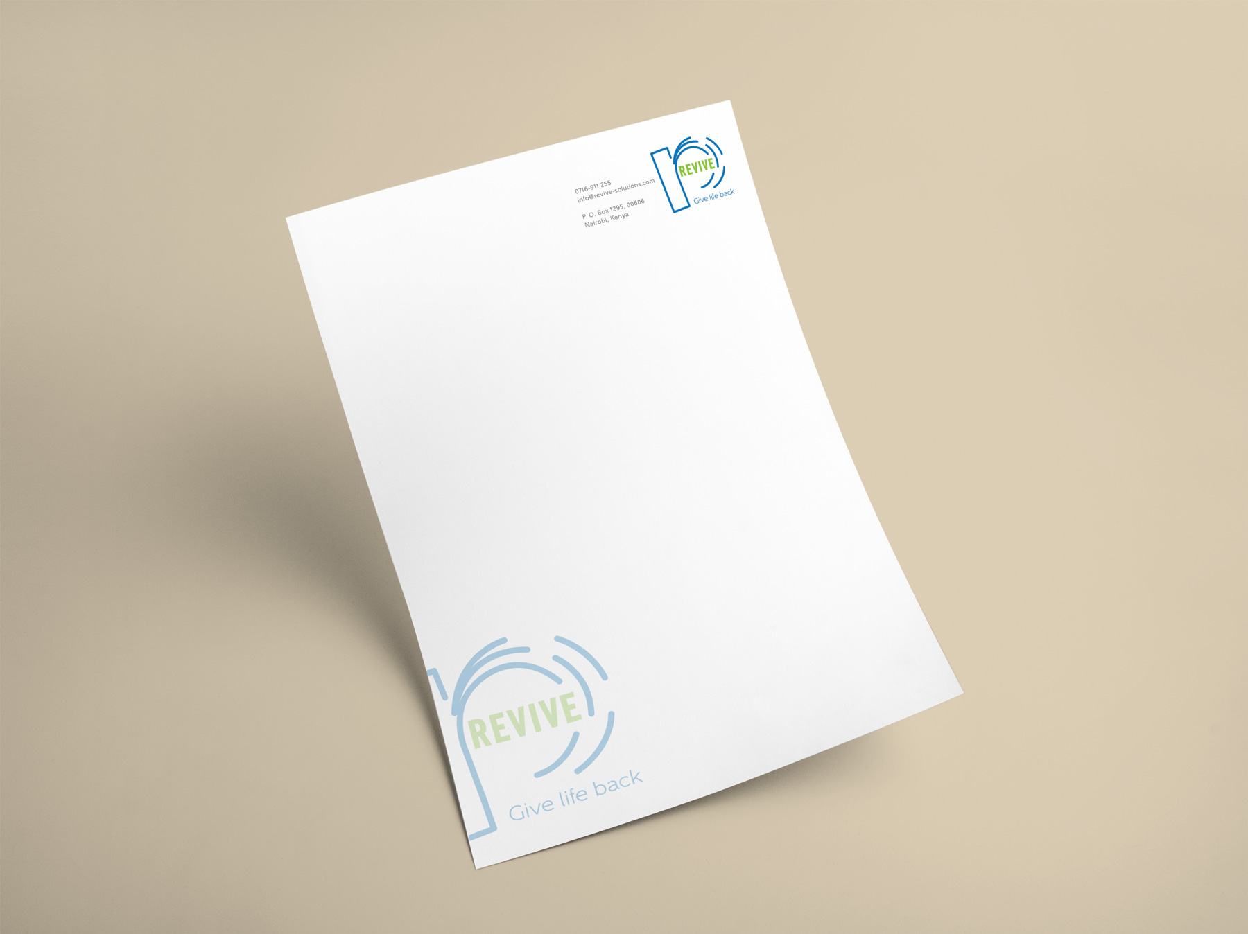 Revive letterhead